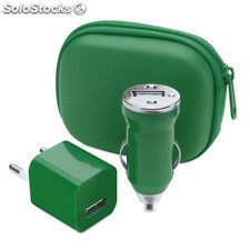 Set carregador usb. Green