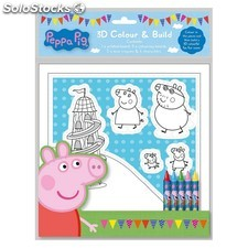 Set Coloriage 3D peppa pig