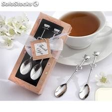 Set cucharas de cafe cromadas en plata