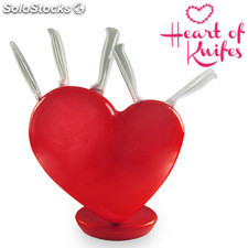 Set Cuore di Coltelli con Ceppo Heart of Knifes