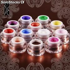 Set de 12 Colores Manicura UV Gel Decoracion de Uñas 5ml Marca Fräulein