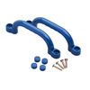 Set de 2 agarraderas de plástico Swing King 2552041, 247 x 68 mm, Azul