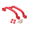 Set de 2 agarraderas de plástico Swing King 2552047, 247 x 68 mm, Rojo