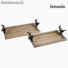 Set de 2 bandejas en metal by Homania