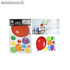 Set de 2 pegatinas pared de globos de colores