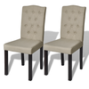 Set De 2 Sillas De Comedor Antigua Color Beige Arco