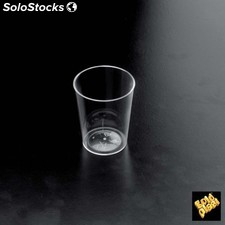 "Set de 25 vaso ""conico"" ps transparente 20u/c"