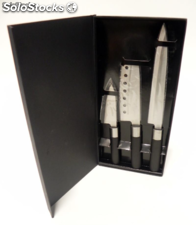 Set de 3 cuchillos tipo chef