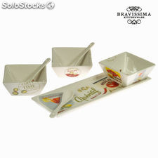 Set de 3 cuencos con bandeja - Colección Kitchen's Deco by Bravissima Kitchen