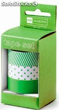 Set de 3 Washi Tapes Candy Colours Apple Green