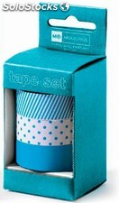 Set de 3 Washi Tapes Candy Colours Turquoise
