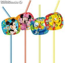 Set de 8 Pajitas Decoradas Mickey Mouse