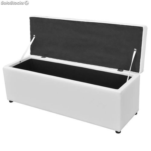 set de banc set de banc de rangement en simili cuir blanc produits france. Black Bedroom Furniture Sets. Home Design Ideas