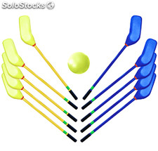 Set de Hockey de 10 sticks y pelota de foam