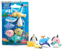 Set de Mini Gomas de Borrar Puzzle Sea World