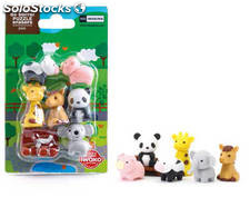 Set de Mini Gomas de Borrar Puzzle Zoo