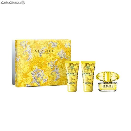 Versace3 Yellow De Femme Pcs Set Diamond Parfum HbDe2W9YEI