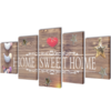 "Set decorativo de lienzos para la pared modelo ""Home sweet home"", 100 x 50 cm"