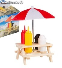 Set Dispensadores con sombrilla Picnic