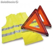 Set emergencia 2 triangulos + chaleco reflectante