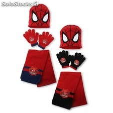 Set gorro bufanda guantes Spiderman
