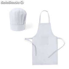 Set gorro y delantal cocinero niño legox color: blanco