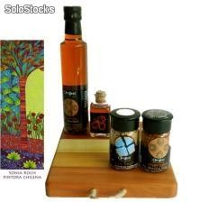 Set Gourmet con Tabla de Madera