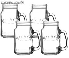 Set kilner de 4 Jarras - vasos de 400 ml - 40 cl