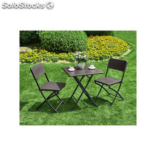 Set Mesa + 2 Sillas Plegables 62X62 Cm