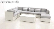 Set Modular lounge rattan Artic
