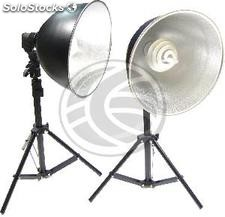 Set of 2 continuous light sources with support of 120 cm (EW44)