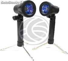 Set of 2 continuous light sources with support of 22 cm (EW41)