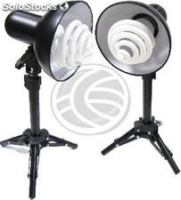 Set of 2 continuous light sources with support of 43 cm (EW42)