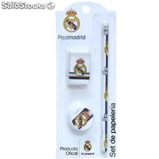 Set Papeleria 3pcs Real Madrid