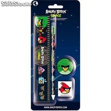 Set papeleria 4 pzs Angry Birds Space