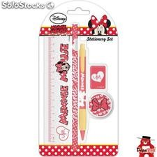Set papeleria Corazones Minnie Mouse Disney