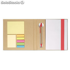 Set papeterie MO8183-05, rouge