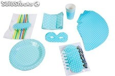 Set party baby shower (7ARTÍCULOS diferentes) azul