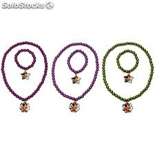 Set pulsera + collar, minnie mouse - colores surtidos - natural care -