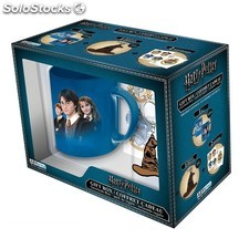 Set regalo Taza + Stickers + llavero Harry Potter