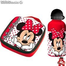Set sandwichera termica + cantimplora aluminio Minnie Disney