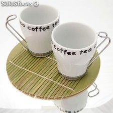Set table en bambou Tea - MyProGift.com - 103834