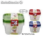 Set taperfresh 1,30L. Surtido colores, juypal, 4UDS.