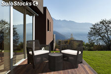 Set tarifa marron mesa cool stool+2 sillones