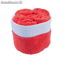 Set toalhas absorvente. Red