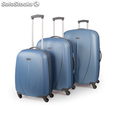 Set trolley abs colore del tempo mark Claro-Marino blu