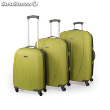 Set trolley abs colore del tempo mark Verde scuro