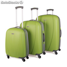 Set trolleys abs bicolor de la marca tempo pistacho-plata