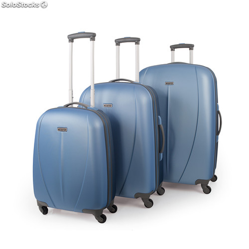 Set trolleys abs bicolor de la marca tempo turquesa-gris