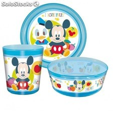 Set Vajilla Micro 3 Pzs Mickey Disney
